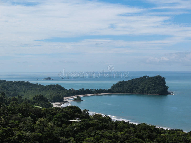 Manuel Antonio National Park. The signature promontory of Manuel Antonio National Park, Costa Rica, juts into the Pacific Ocean stock photography