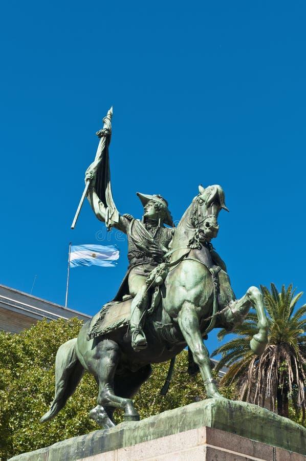 Manuel Belgrano, criador da bandeira argentina. fotos de stock