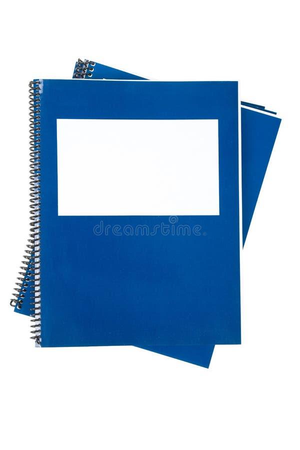 Manuel bleu d'école image stock