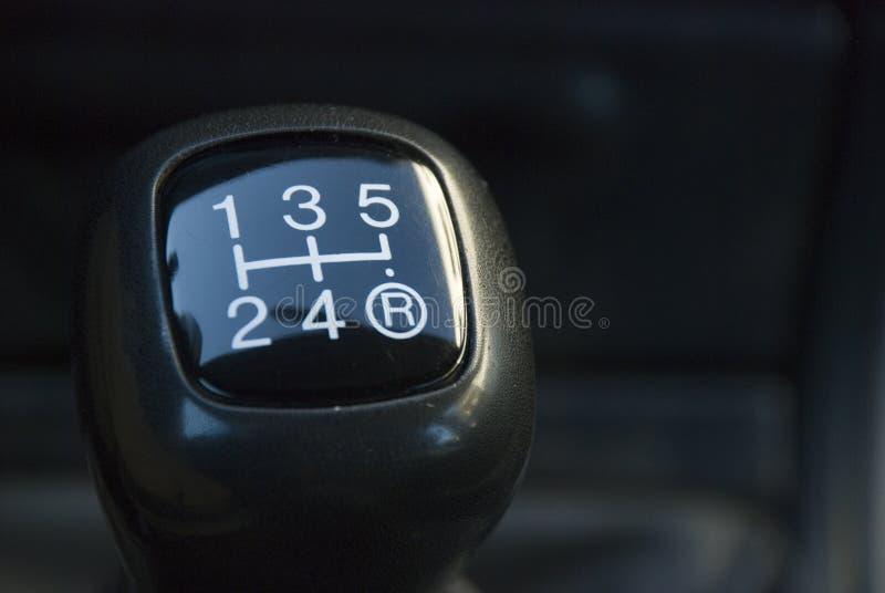 Manuel de commande des vitesses photographie stock libre de droits