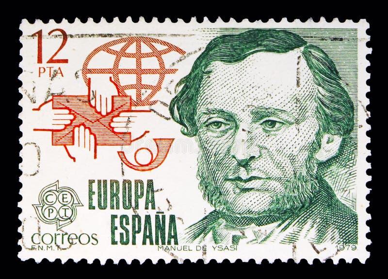 Manuel De Ysasi, Pocztowa historia, Europa (C e P T ) seria, około zdjęcia stock