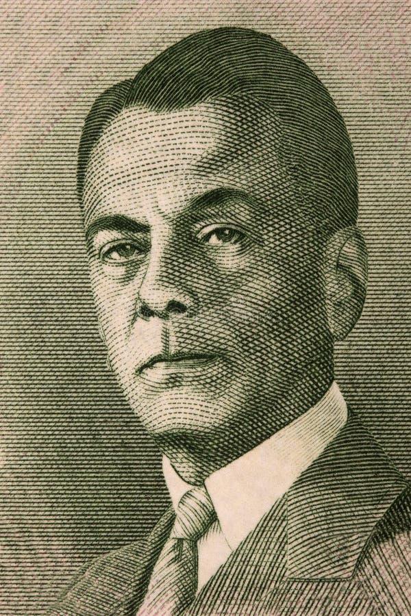 Manuel Luis Quezon, een portret royalty-vrije stock fotografie