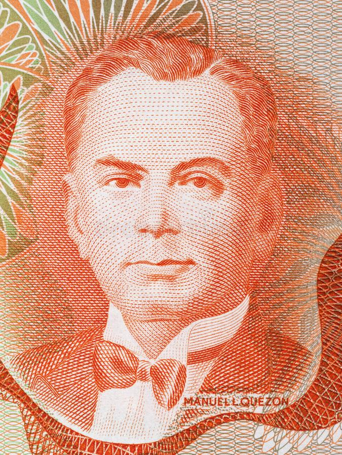 Manuel Luis Quezon-portret royalty-vrije stock fotografie