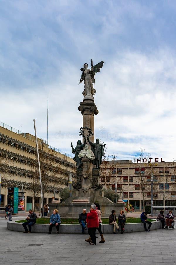 Manuel Milà i Fontanals sculpture in Vilafranca del Penedes, Catalonia, Spain royalty free stock photo