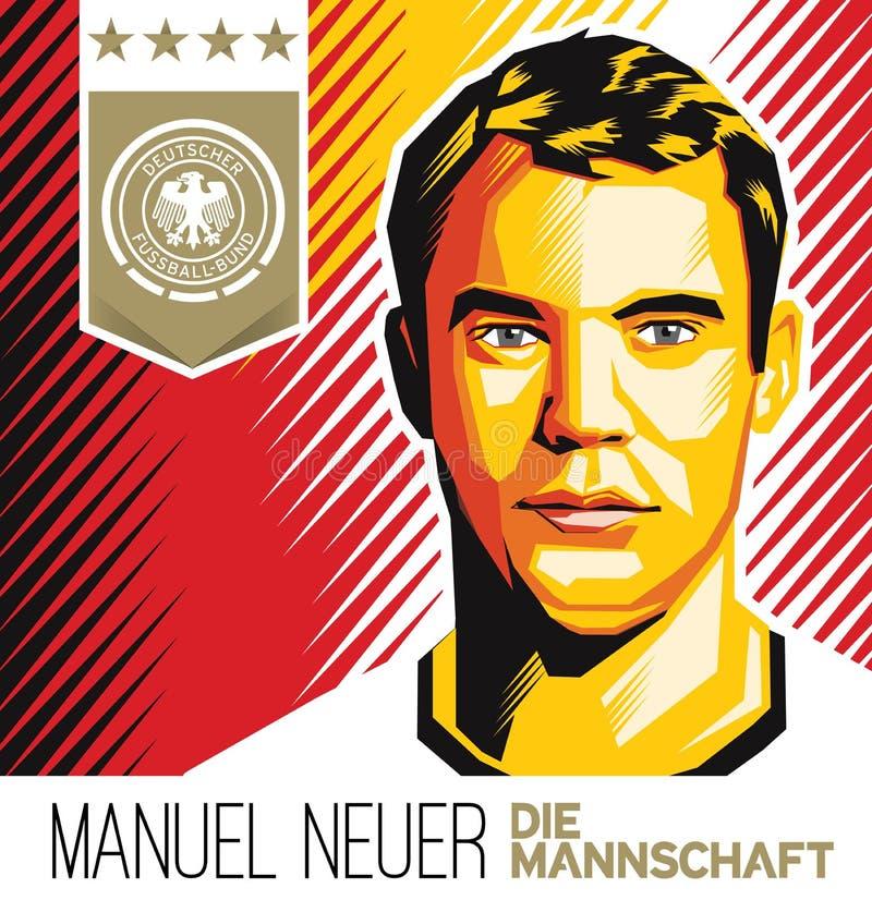Manuel Neuer German Football Star lizenzfreies stockbild