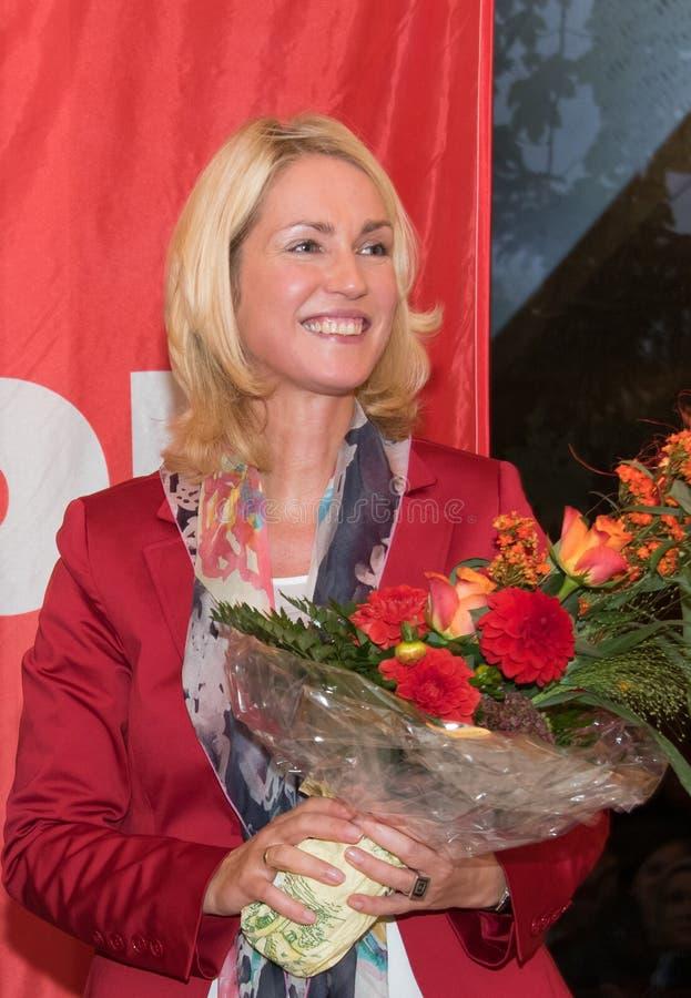 Manuela Schwesig, ministro del SPD, Alemania imágenes de archivo libres de regalías