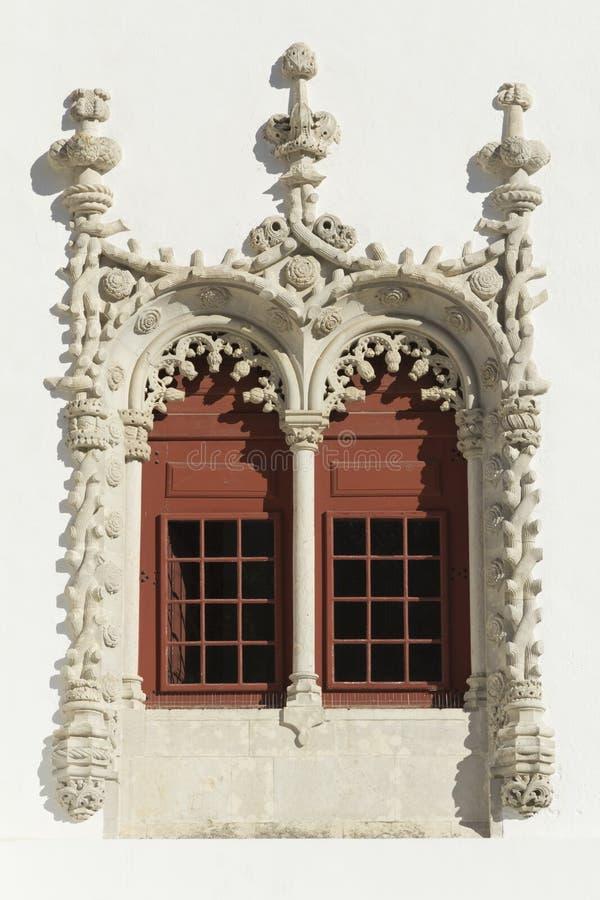 Manueline Window, National Palace of Sintra stock photos