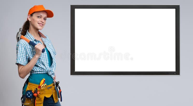 manuell arbetare för kvinnlig royaltyfri bild
