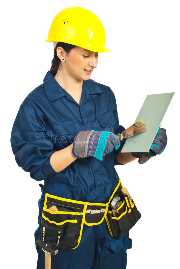 manuell kvinnaarbetarworking arkivfoton