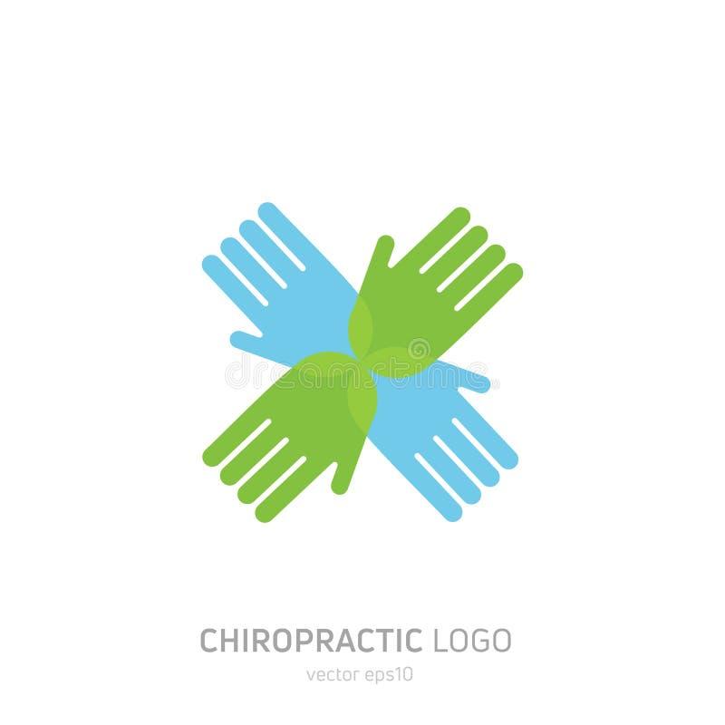 Manuell terapilogo Chiropractic och annan alternativ medicin vektor illustrationer