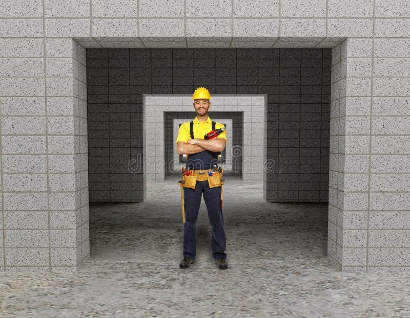Download Manuelle Arbeitskraft Im Modernen Gebäude Stockbild - Bild von schlosser, arbeiter: 12200343