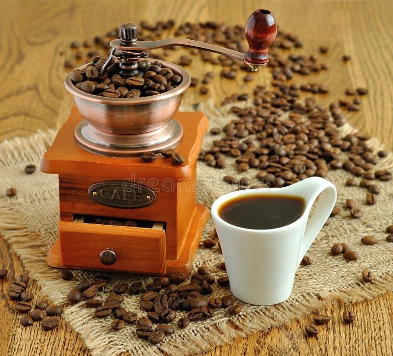 Manueller Kaffeeschleifer stockbild