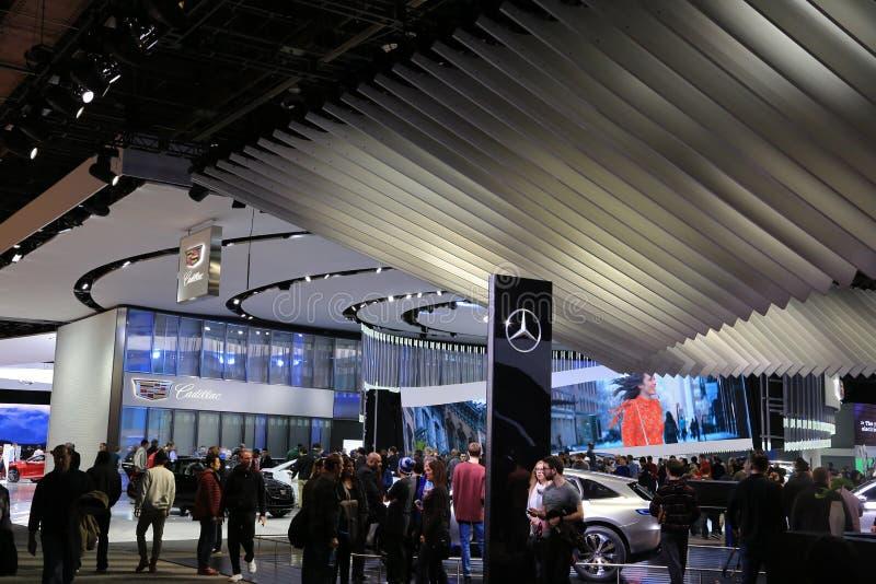 Manufacrters automobilistici su esposizione all'esposizione automatica internazionale nordamericana immagine stock libera da diritti