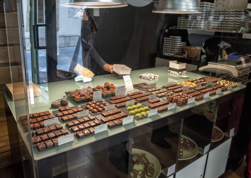 Manufactory de chocolade van Roszavolgyicsokolade, Boedapest, Hongarije stock foto's
