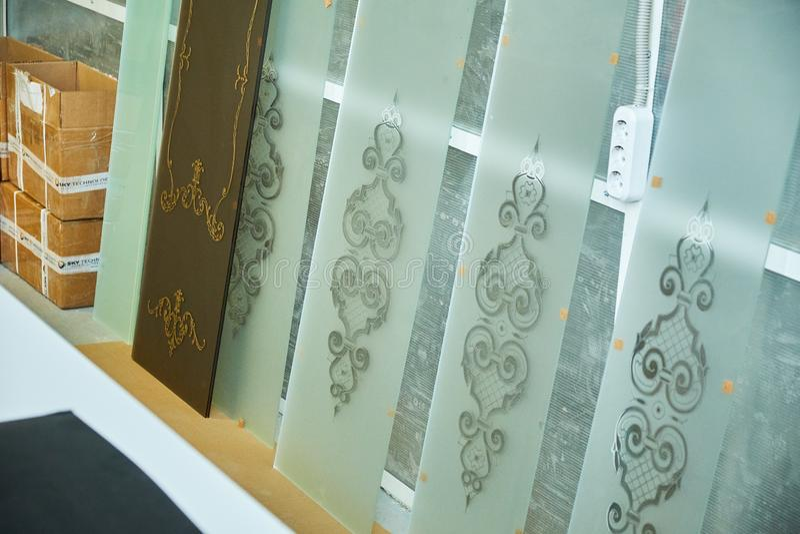 Manufacture of steel doors. 4k stock photography