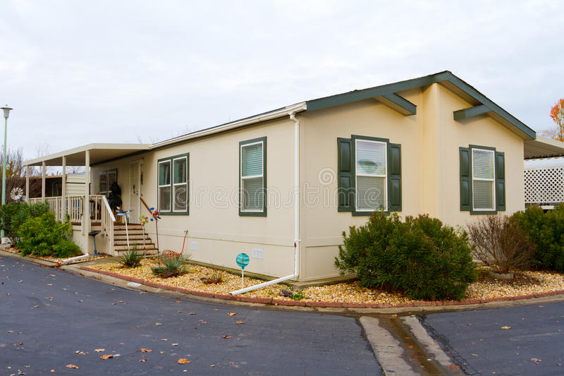 Manufactured Home. A new manufactured home at a retirement trailer park royalty free stock image