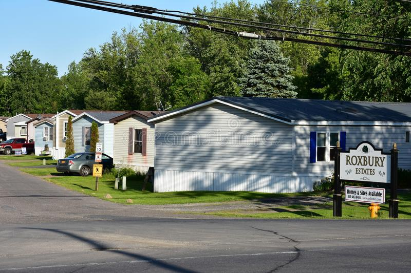 Manufactured Homes Poor Neighborhood royalty free stock images
