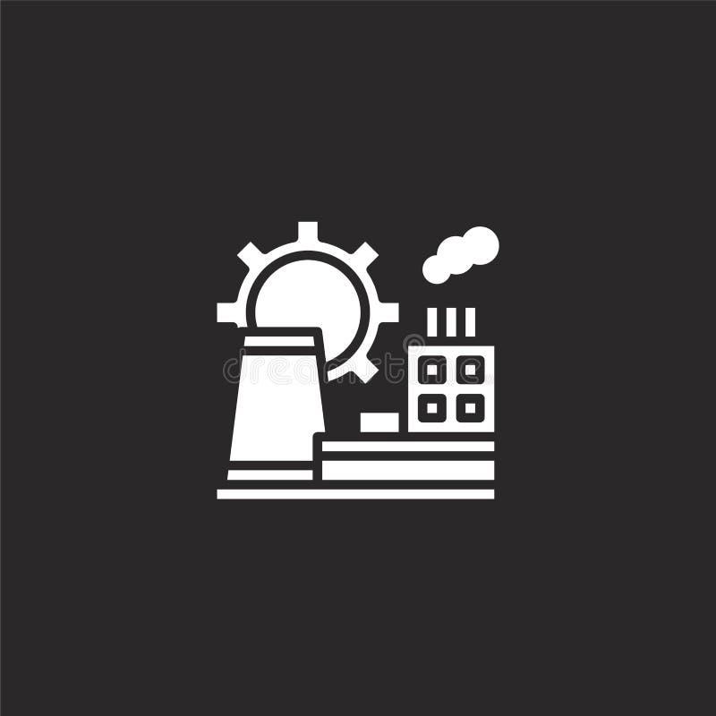 manufacturer icon. Filled manufacturer icon for website design and mobile, app development. manufacturer icon from filled vector illustration