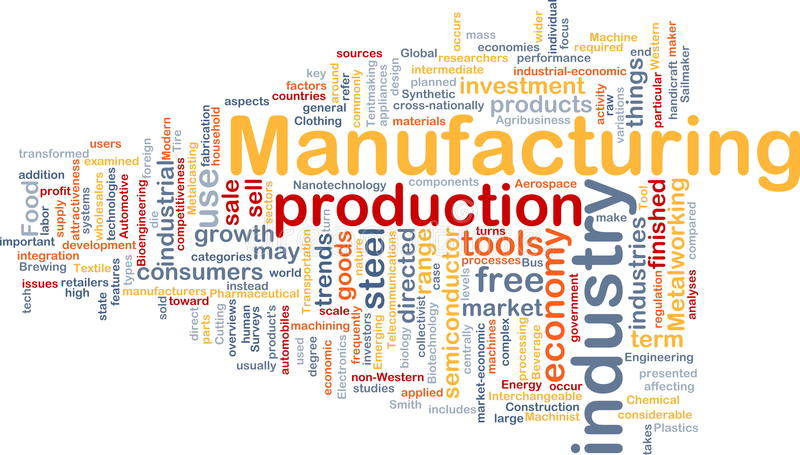 Manufacturing background concept stock illustration