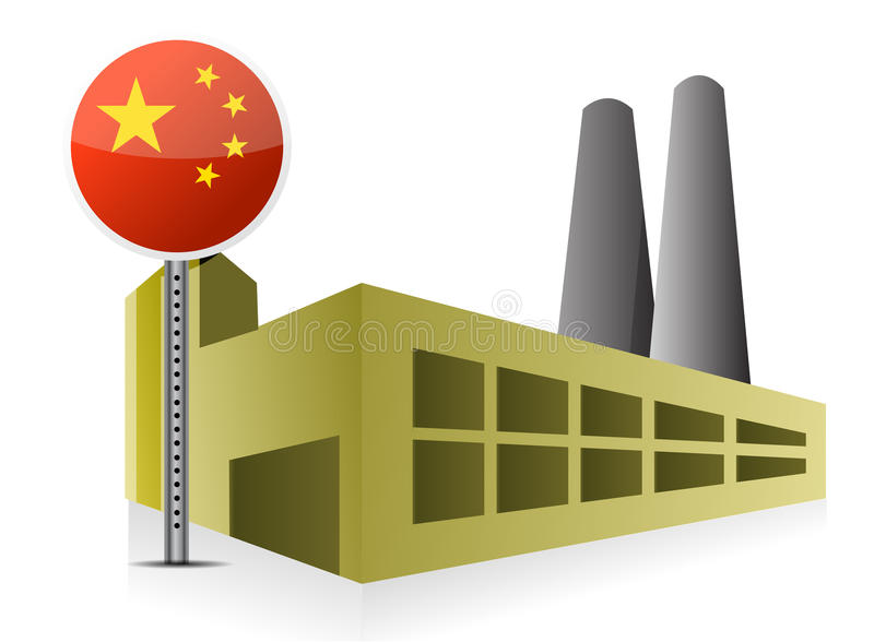 Download Manufacturing in China stock illustration. Image of cheap - 28296620