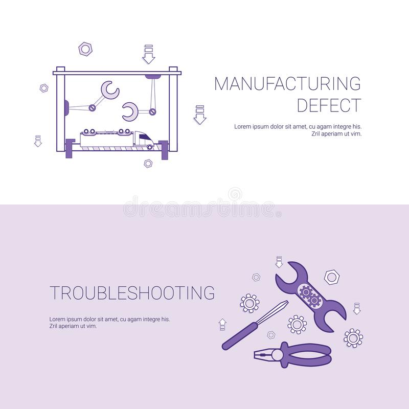 Manufacturing Defect And Troubleshooting Concept Template Web Banner ...