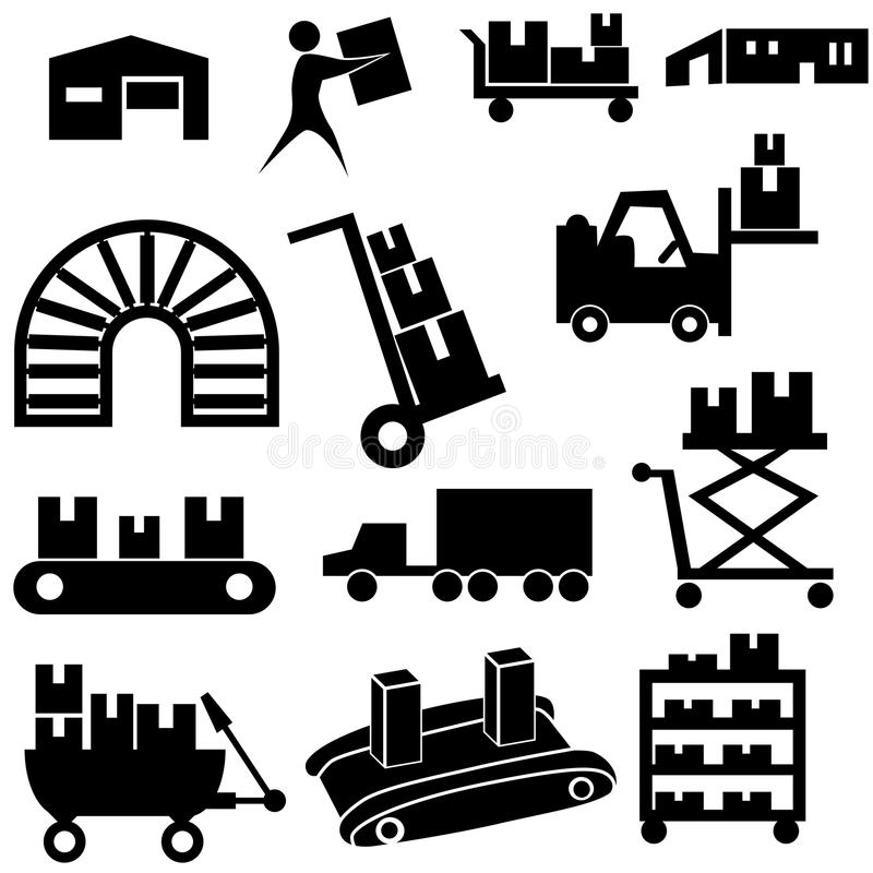 Manufacturing Icon Set stock photography
