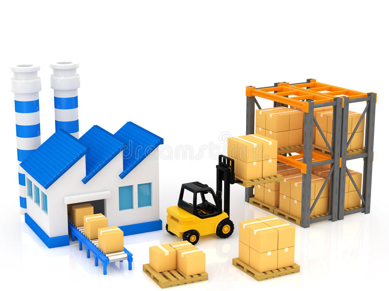 Download Manufacturing stock illustration. Image of stock, packaging - 32948981