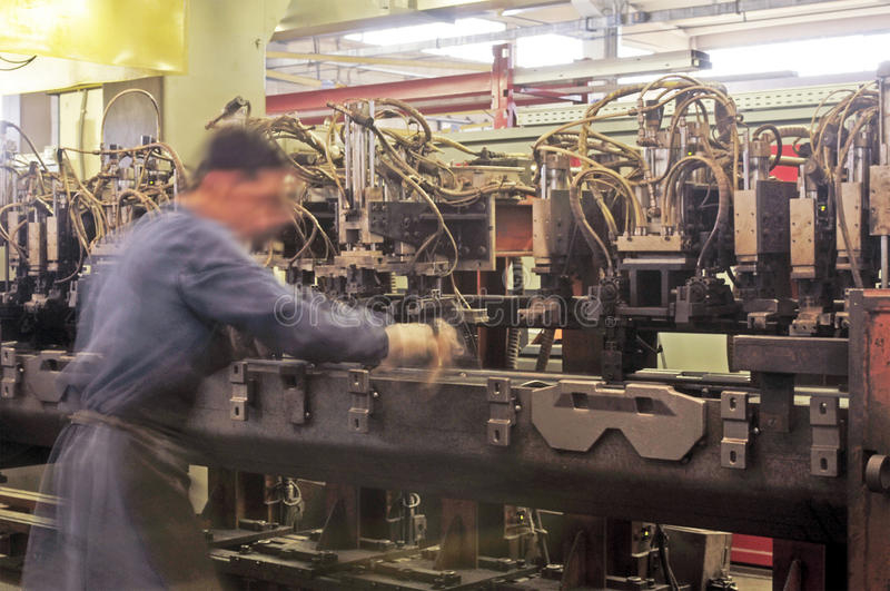 Manufacturing industry stock images