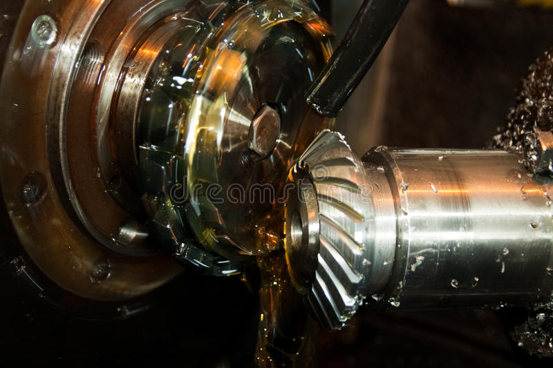 Manufacturing of parts for tractors. Ukrainian production stock image