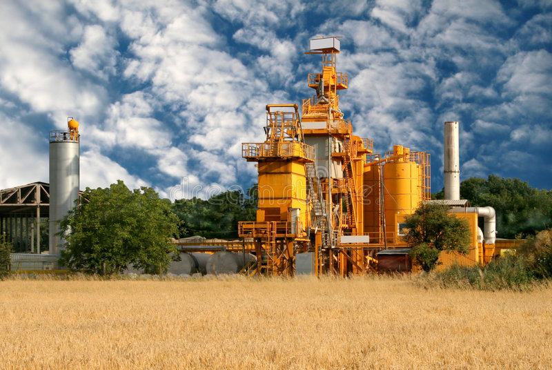 Manufacturing silo stock image