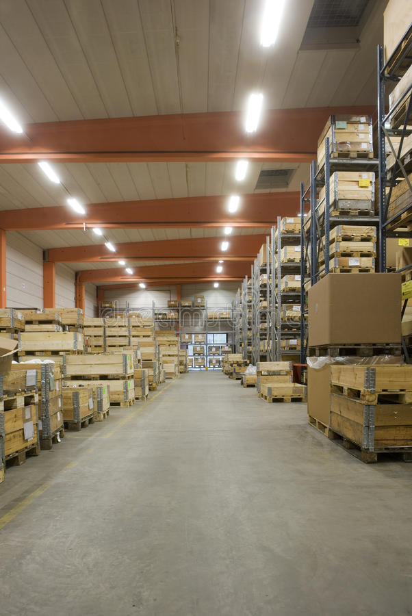 Manufacturing storage royalty free stock photography