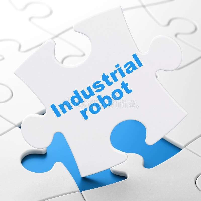 Manufacuring概念:在难题背景的产业机器人 库存例证