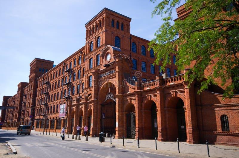 Manufaktura σύνθετο στο Λοντζ, Πολωνία στοκ εικόνες με δικαίωμα ελεύθερης χρήσης