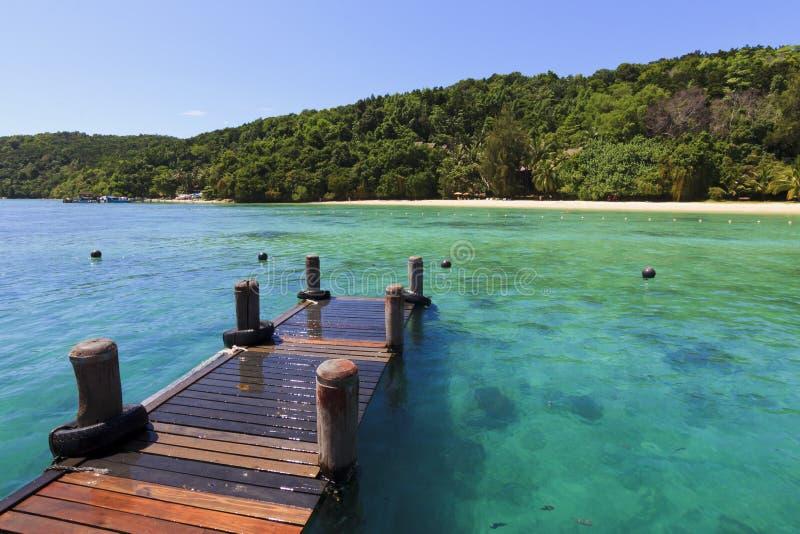 Manukan ö på Borneo, Sabah, Malaysia royaltyfria bilder
