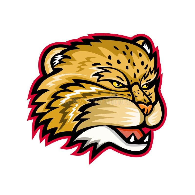 Manul oder Pallas Cat Head Mascot stock abbildung