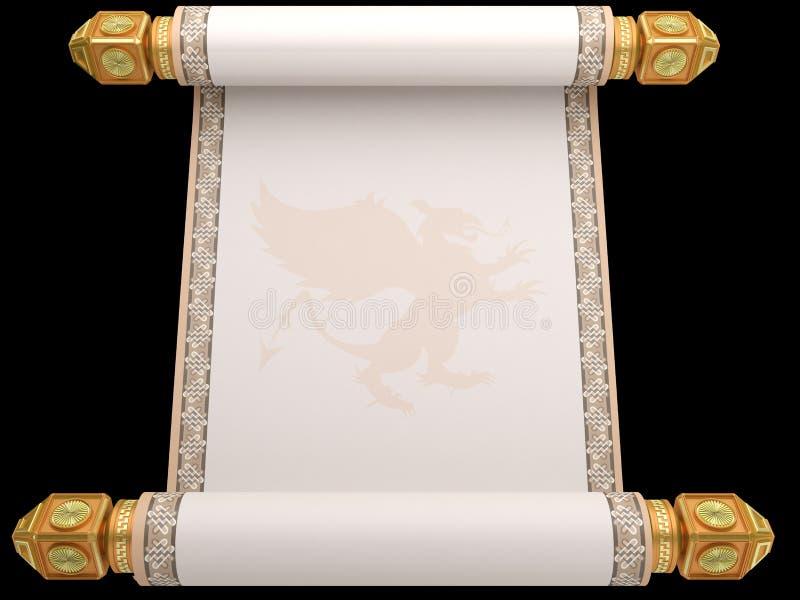 Manuscript een broodje royalty-vrije illustratie