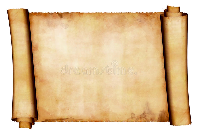 Download Manuscript roll stock illustration. Image of rough, isolated - 16833522