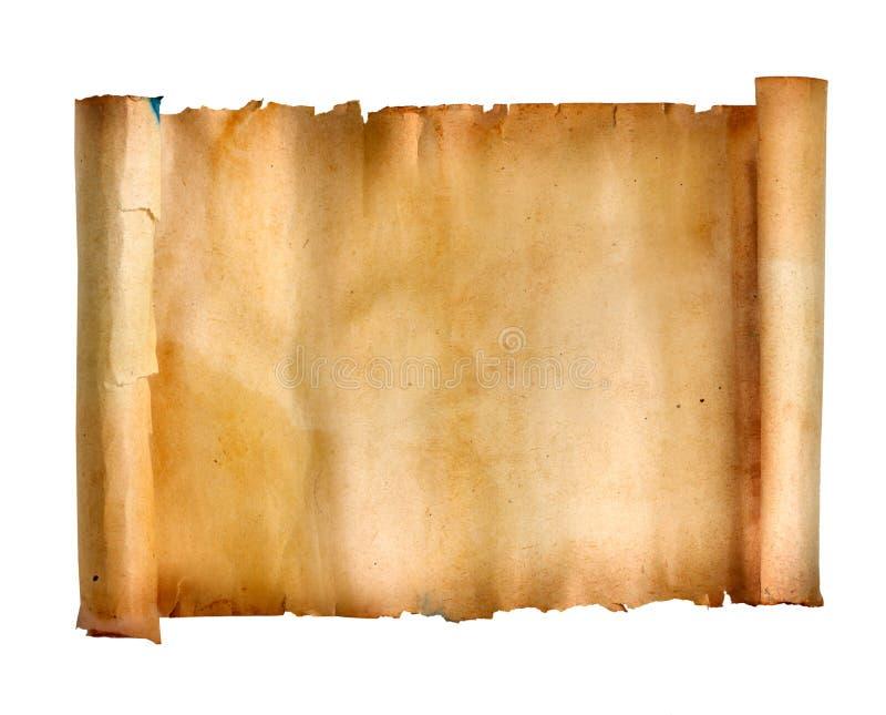 Manuscript roll royalty free illustration