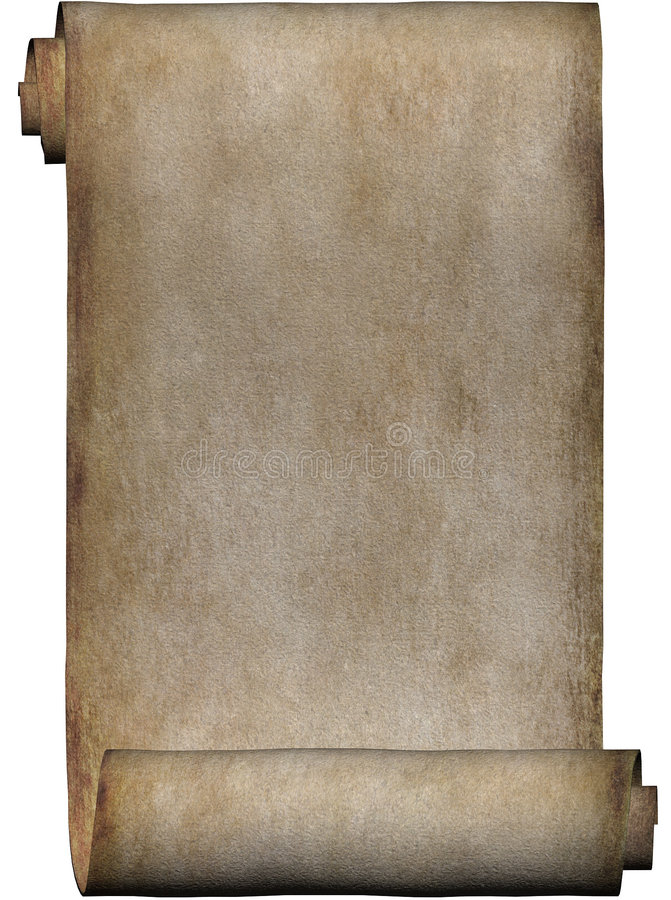 Manuscript, roll of parchment vector illustration