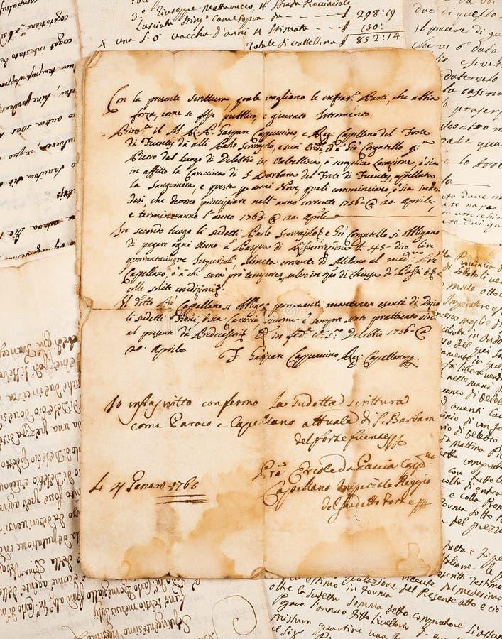Download Manuscripten stock afbeelding. Afbeelding bestaande uit kras - 29509309