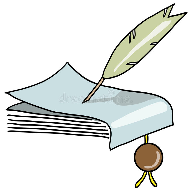 Manuscrit illustration stock