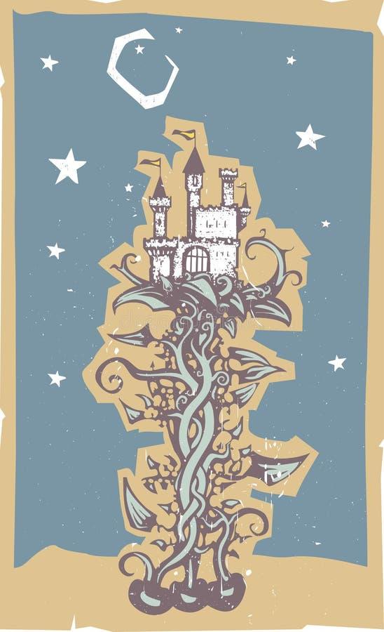 Manuscrit magique de tige de haricot illustration libre de droits