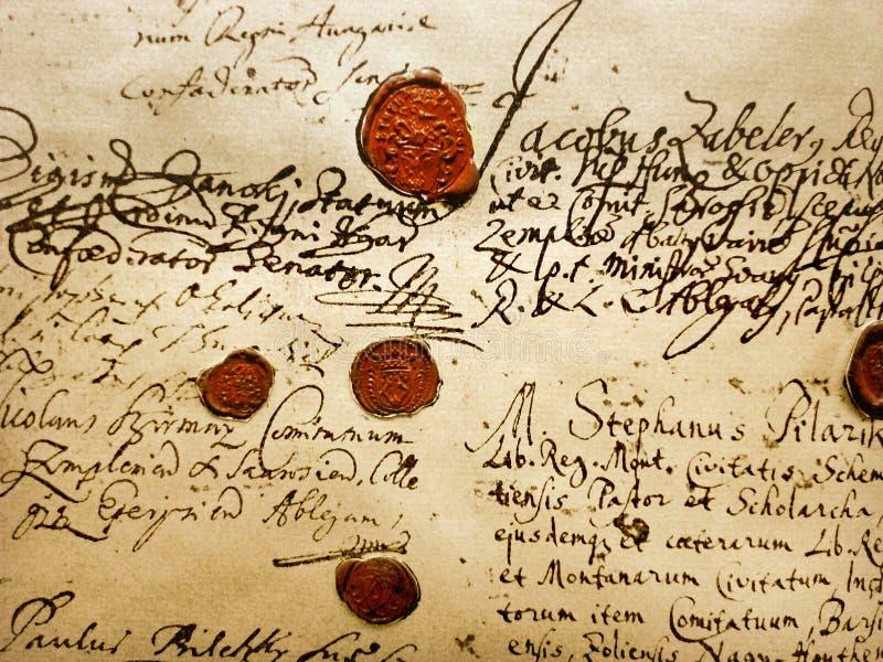 Manuscrito antigo fotografia de stock royalty free