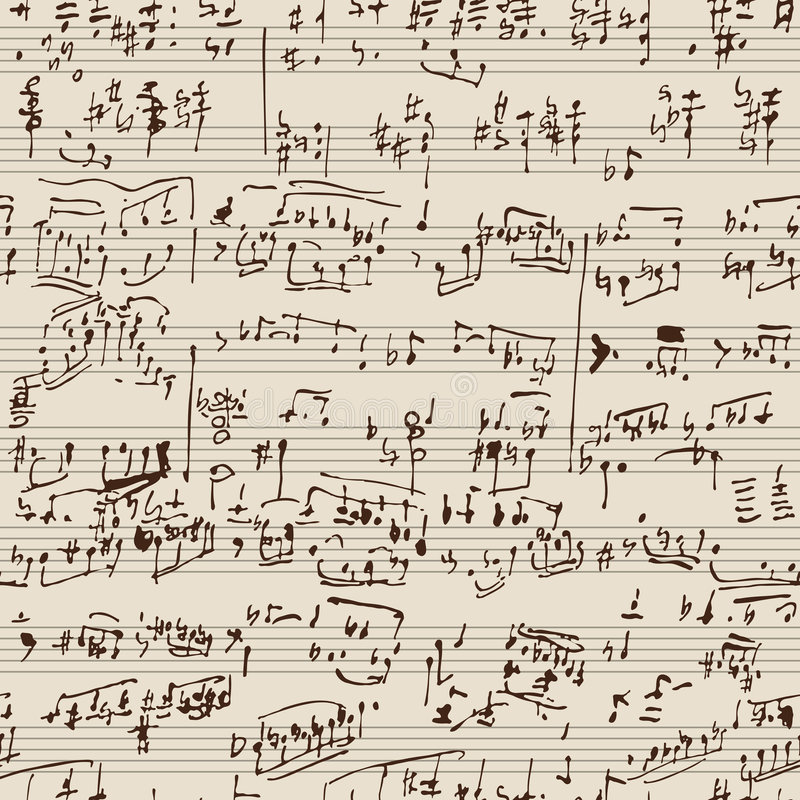 Manuscrito da música ilustração stock