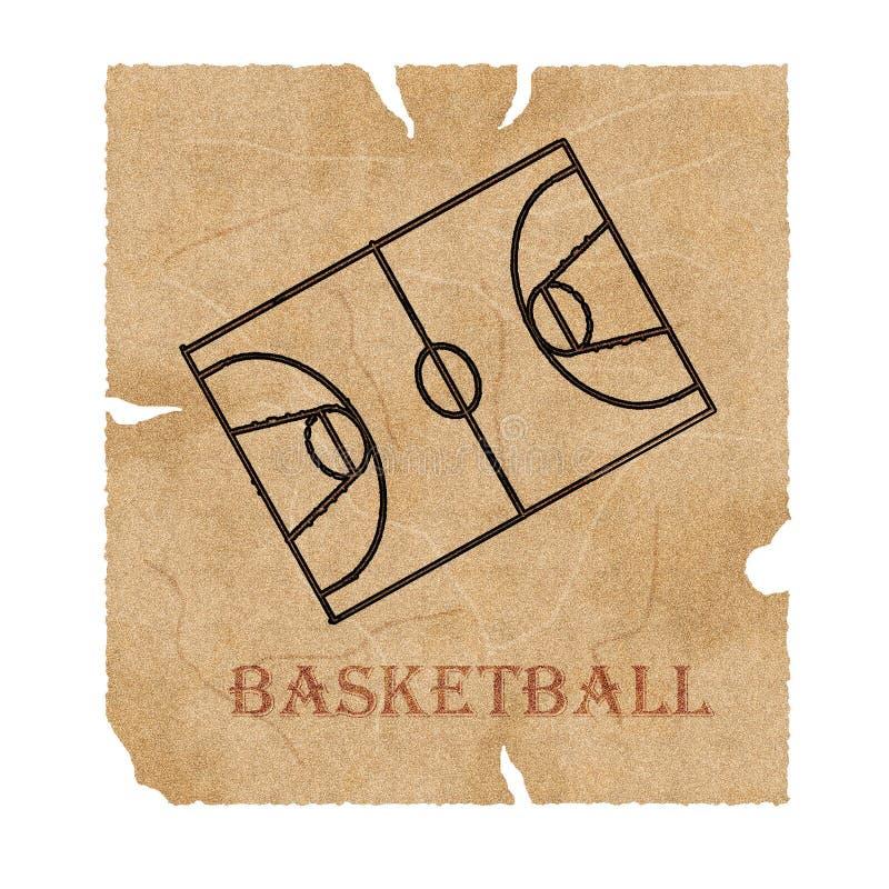 Manuscrito del baloncesto stock de ilustración