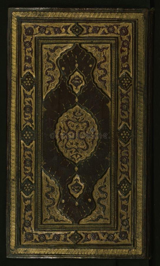 Manuscrito iluminado de un trabajo sobre los deberes de musulmanes hacia el profeta con una cuenta de su vida, atascamiento origi imagenes de archivo