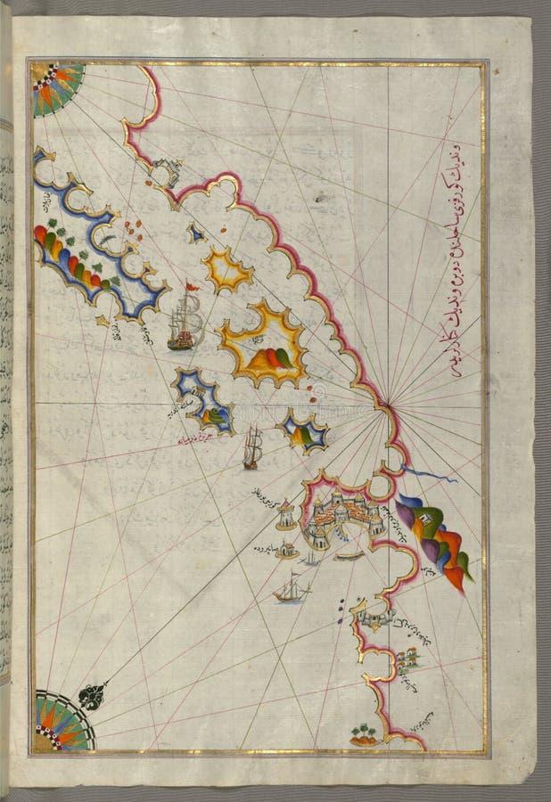 Manuscrito Iluminado, Mapa De La Costa Costa Adriática Del Norte De Dubrovnik Del Libro En La Navegación, Walters Art Museum Ms W Dominio Público Y Gratuito Cc0 Imagen