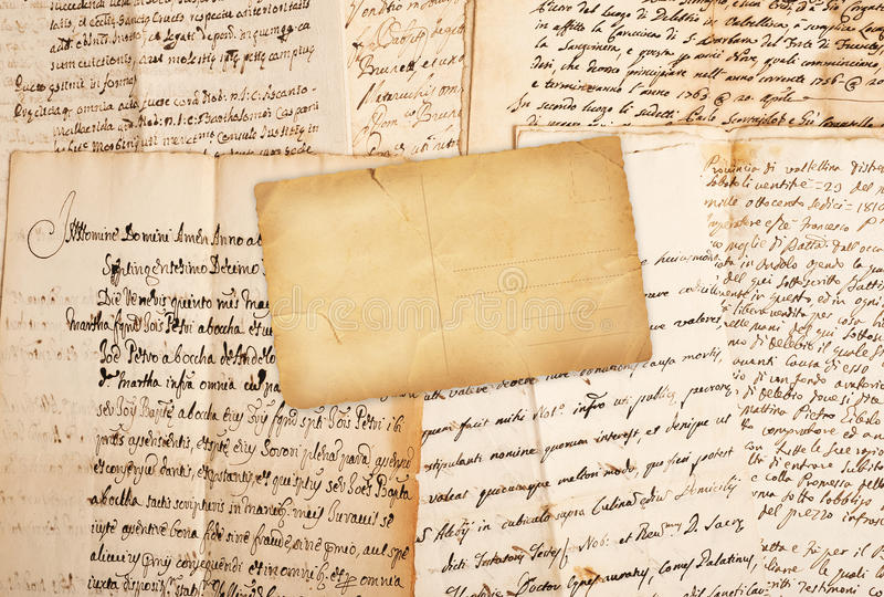 Manuscritos imagen de archivo