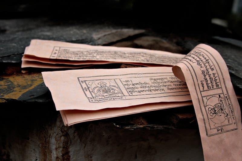 Manuscrpits bouddhistes image stock