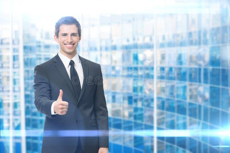 Manuseio acima do homem de negócio imagens de stock royalty free